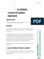 atividades primarias da logística empresarial
