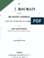 Cratiunesco, Le peuple roumain d'après ses chants nationaux (1874)