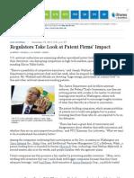 Regulators Take a Look at Patent Firms' Impact - WSJ.com