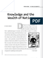 Knowledge and Wealth of Nations Excerpt