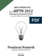 Analisis Bedah Soal SNMPTN 2012 Kemampuan Penalaran Numerik (Aljabar dan Aritmatika Sederhana)