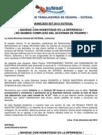 Comunicado Nº 007-2012 SUTESAL