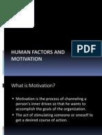 human factors and motivation
