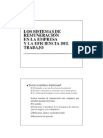 LOS SISTEMAS DE REMUNERACIÓN EN LA EMPRESA Y LA EFICIENCIA DEL TRABAJO