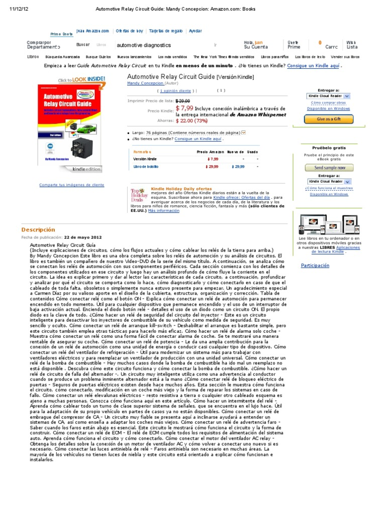 Automotive Relay Circuit Guide  Mandy Concepcion  Amazon
