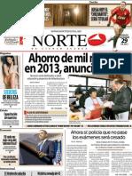 Periodico Norte de Ciudad Juárez 29 de Diciembre de 2012