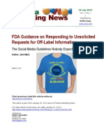 FDA Guidance on Responding to Unsolicited 