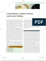 Consultation, medical history