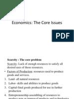 1 Economics the Core Issues