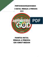 LPJ Natal Pemuda&Remaja 2012