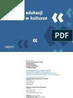 Kadry dla kultury w edukacji i edukacji w kulturze
