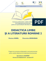 Florentina Samihaian Didactica Limbii Si Literaturii Romane 2 Opti