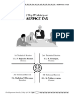 Service Tax Work Shop Material - Held by Vizag Branch of Icai