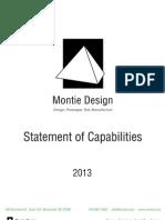 2013 Statement of Capabilties for Montie Design