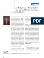 Action Toward Cervical Screening