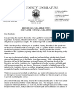 CHAIRMAN OF THE ULSTER COUNTY LEGISLATURE, TERRY BERNARDO,  RELEASES YEAR-END LETTER TO RESIDENTS