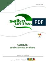 Currículo - conhecimento e cultura