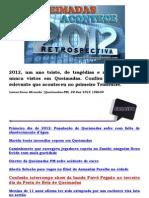 Queimadas Acontece Restrospectiva 2012 - Confira tudo de mais relevante que aconteceu no primeiro Trimestre