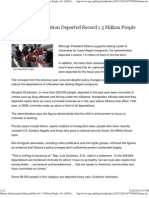 Obama Administration Deported Record 1.5 Million Illegals