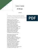Bocage - Cantos e cantatas