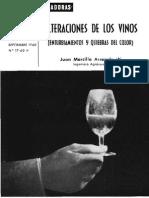 Alteraciones de los vinos. (1960)