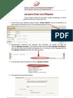 Manual Creacion de Etiqueta