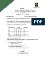 MC0079 Fall Drive Assignment 2012