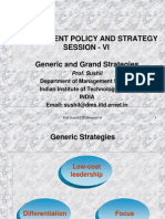 Generic and Grand Strategies