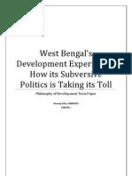 West Bengal's Development Experience