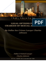 Legal Options for Charges of  Sex Assault By Dallas Sex Crimes Lawyer