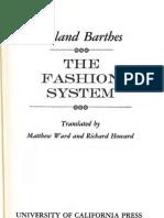 Tabla de contenidos- El sistema de la moda de Roland Barthes