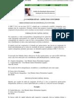 SOCIEDADES COOPERATIVAS - ASPECTOS CONTÁBEIS