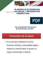 Modelo de Abordaje en Promocion de La Salud Sexual Reproductiva