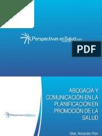 Advocacy y Comunicacion en Promocion de La Salud