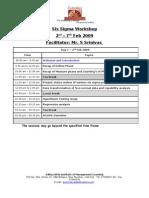 1.0 BB Program Schedule