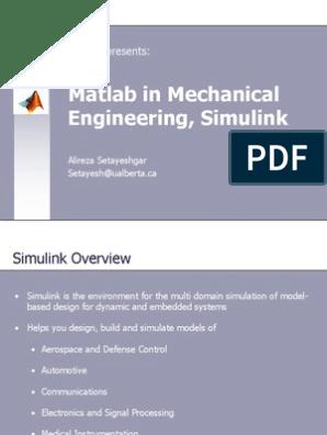 Simulink Matlab Simulation