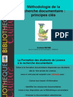 Methodo Recherche Doc Principes Cles