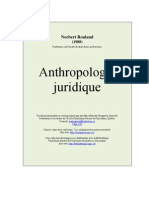 Anthropologie Juridique.norbert Rouland