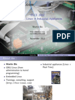 ELCE 2012 Real-Time Linux in Industrial Appliances