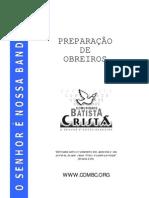 PREPARAÇÃO OBREIROS
