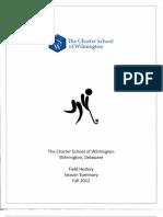 Charter School of Wilmington 2012 Field Hockey Season Summary