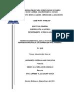REPERCUSIONES PSICOLÓGICAS Y SOCIALES ANTE LA REPROBACIÒN ESCOLAR EN ALUMNOS DE NIVEL PRIMARIA