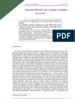 LES « COMPLEXES DE PHRASES » DE L'ARABE CLASSIQUE- Pierre Larcher