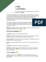 Lenguaje SQL Usuarios y Privilegios Mysql