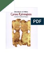 Carmen Astrologicum of Dorotheus Translated by David Pingree