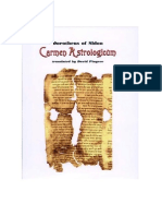 Carmen Astrologicum of Dorotheus Translated by David Pingree