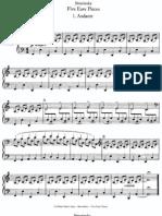 Stravinsky Easy Pieces Piano 4 Hands