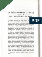 Michel Vâlsan - Un texte du Cheikh el-Akbar sur la réalisation descendante