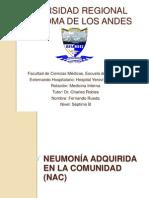 Neumonía Adquirida en al Comunidad (NAC)