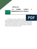 Volume 03 - CapÍtulo III – Dos Crimes Contra a AdministraÇÃo Da JustiÇa